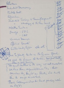 "James Callaghan's notes reflect a virtual ""A-Z"" of government activity planned for the term ahead, September 1978"