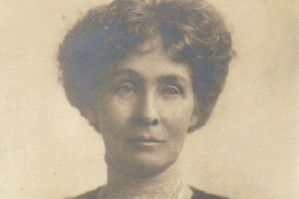 Portrait of Emeline Pankhurst