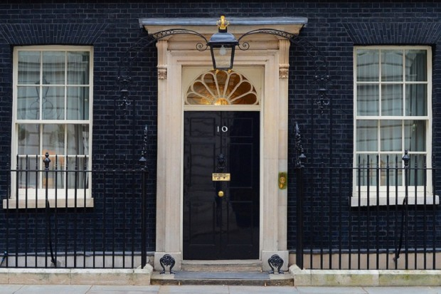 The front door of Number 10 Downing Street - the official residence of the First Lord of the Treasury