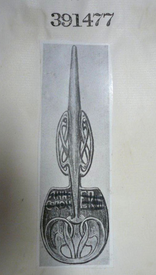 Design for 'Cymric' silver spoon by Archibald Knox