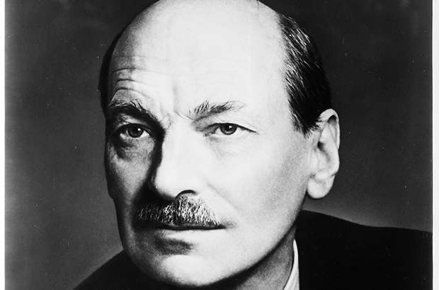 Portrait of Clement Attlee (The National Archives reference INF 14/19)