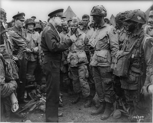 General Eisenhower addressing the troops