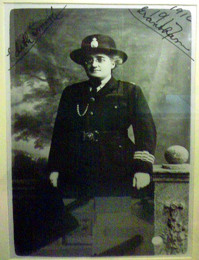 Edith Smith in uniform