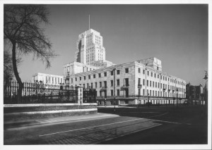 Black and white photograph of Senate House ©University of London.