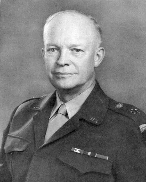General Dwight D Eisenhower. Image by US Army (US Army) [Public domain], via Wikimedia Commons