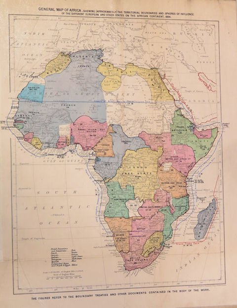 Map of Africa, 1894, Catalogue Ref: MFQ 1/166