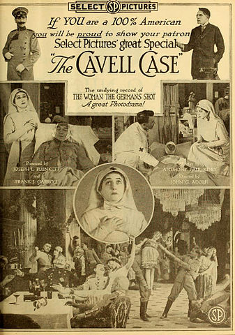 Advertisement in Moving Picture World, March 1919 for The Cavell Case