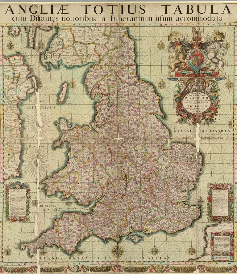 The Council dealt with petitioners and justices of the peace from across much of the realm. Map Dated 1680 (The National Archives: MPI 1/463).