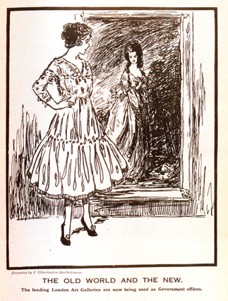 Illustration from Red Tape, publication of the Assistant Clerks' Association, circa 1915.