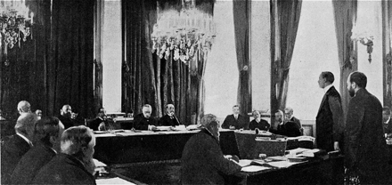 1905 session of the International Commission of Inquiry on the Dogger Bank Incident (Wikimedia Commons)