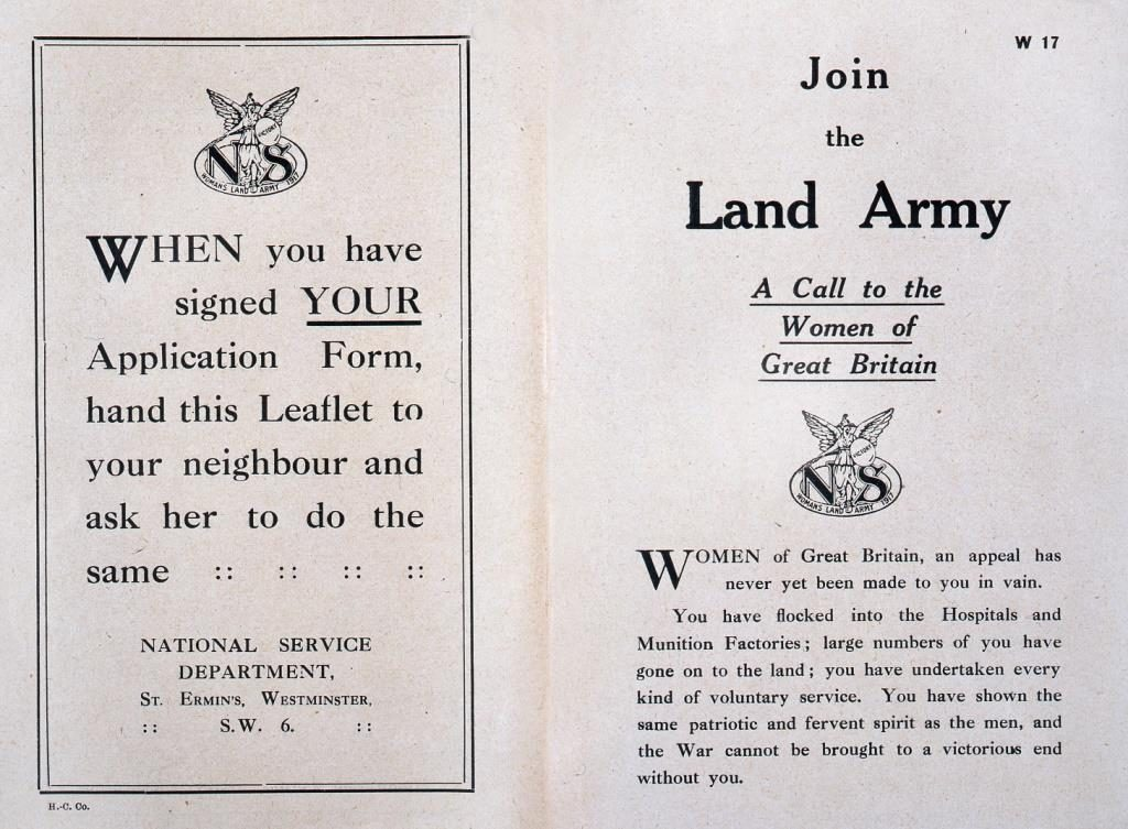 'Join the Land Army' booklet, The National Archives (TNA): NATS 1/1308