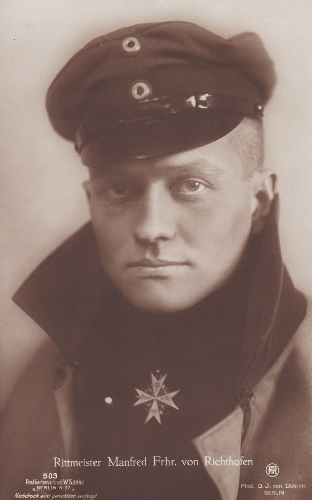 Portrait of Red Baron, also known as Baron Manfred von Richthofen