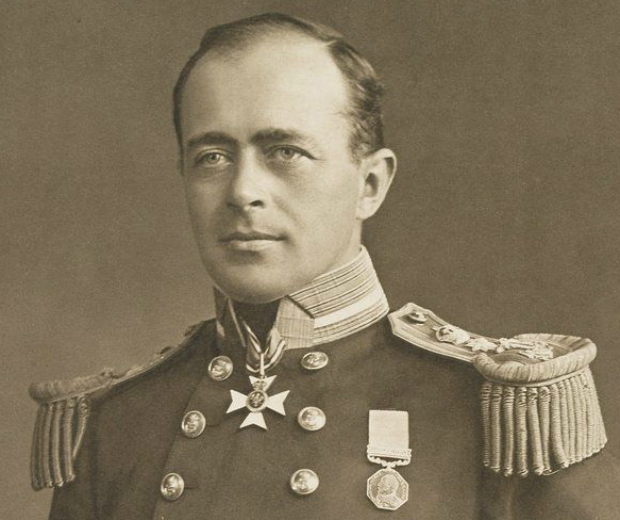 Captain Robert Falcon Scott dressed in full military regalia