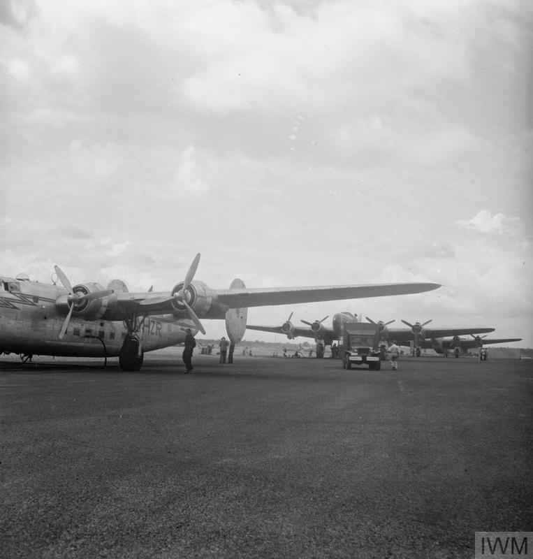 Cargo aircraft at RAF Gatow during the Berlin Airlift