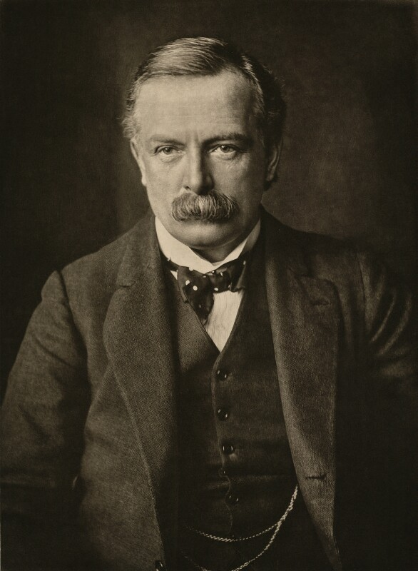 Portrait showing David Lloyd George