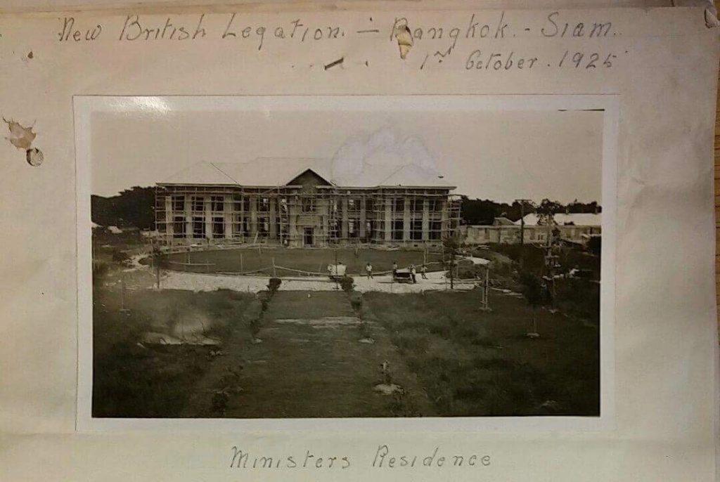 The British Embassy Bangkok in Ploenjit district during construction, 1925
