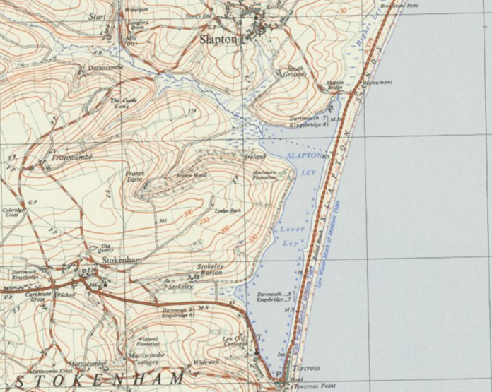 An old map of Slapton Sands
