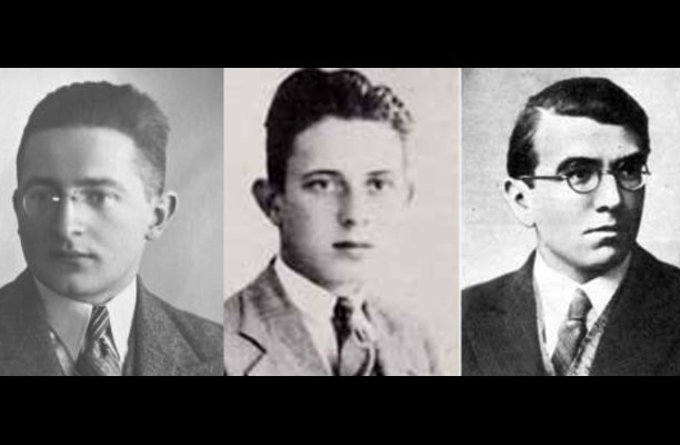 The three Polish codebreakers Marian Rejewski, Jerzy Rozycki and Henryk Zygalski