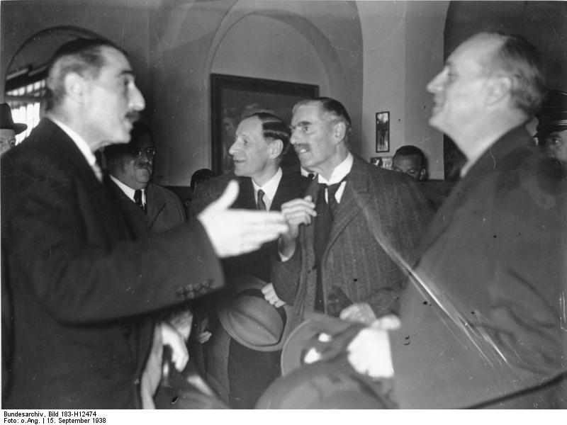 Nevile Henderson speaking to Joachim von Ribbentrop