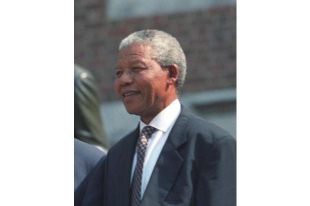 A portrait of Nelson Mandela