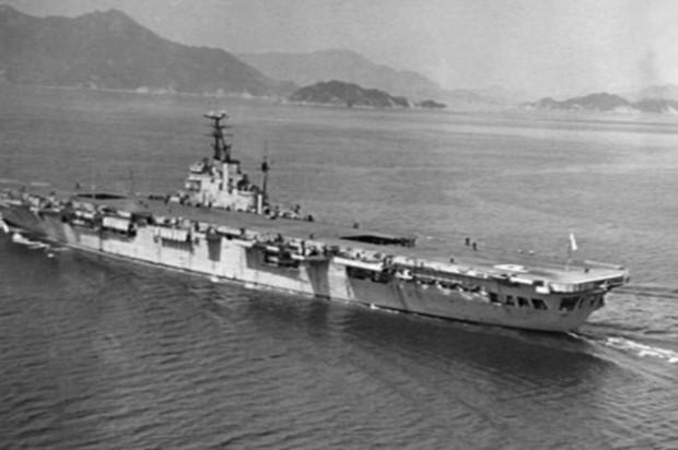 A warship